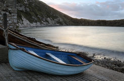 Boats at Lulworth Cove Royalty Free Stock Photos