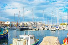 Boats at Msida Marina on Malta. Boats at Ma Marina on Malta Island Royalty Free Stock Photography
