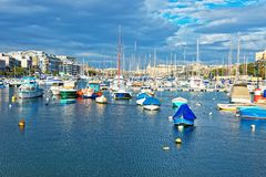 Boats at Msida Marina in Malta. Boats at Ma Marina in Malta Island Stock Photography