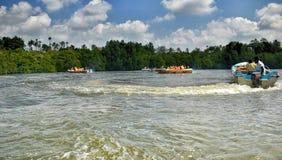 Boats at Madu River Stock Photo