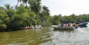 Boats at Madu River Stock Image