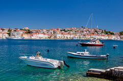 Boats in Mali Losinj bay. In Croatia Stock Photo