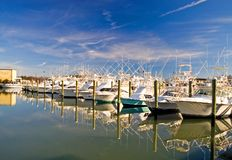 Boats at a Marina-1 Stock Images