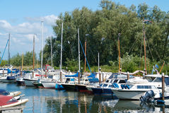 Boats at the marina Royalty Free Stock Image
