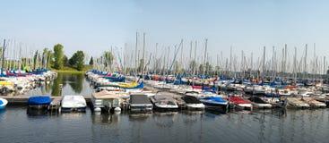 Boats at a Marina Stock Photo