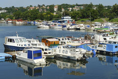Boats at marina. Boats docked at Marina on a sunny day royalty free stock photography