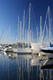 Boats in a marina Royalty Free Stock Photos