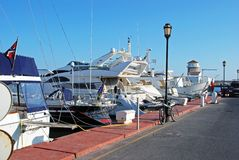 Boats in the marina, Almerimar. Stock Photography