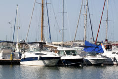 Boats in marina Stock Image
