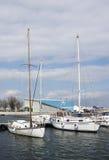 Boats in marina Royalty Free Stock Photos