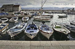 Boats in marina Royalty Free Stock Photos