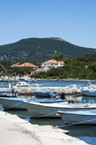 Boats in marina, Croatia, Dalmatia Royalty Free Stock Photo