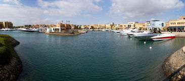 Boats in the marina of el gouna Stock Image