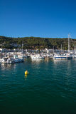 Boats and marina in  Estartit city on the Costa Brava Stock Images