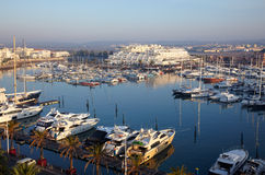 Boats at Marina in harbour Royalty Free Stock Photos