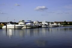 Boats in Marina, Freeport  Stock Images
