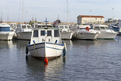 Boats in marina royalty free stock image