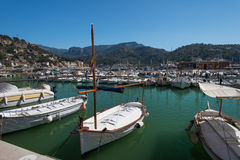 Boats at marina Majorca Balearic islands Spain Stock Photo