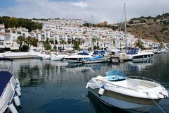Boats in marina, Marina del Este, Spain. Stock Image