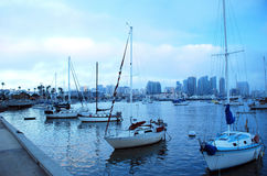 Boats at the marina in San Diego Stock Photos