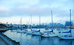 Boats at the marina in San Diego Royalty Free Stock Photos