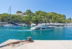 Boats in the marina in Santa Ponsa Nautic Club Stock Photo