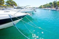 Boats in the marina in Santa Ponsa Nautic Club Royalty Free Stock Photo