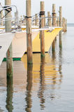Boats in the marina at sunrise Stock Photography