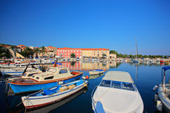 Boats at marina in Supetar Royalty Free Stock Photos