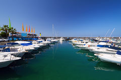 Boats at marina Tenerife Island Spain Stock Photo