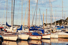 Boats in marina Stock Photography