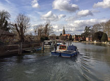 Boats at Marlow Locks. In Buckinghamshire Royalty Free Stock Images