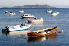 Boats on Marmara Sea Royalty Free Stock Images