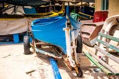Boats in Marsaxlokk harbor Stock Photo
