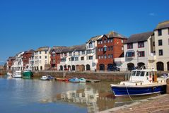 Boats in maryport Harnour, Cumbria, England Stock Image