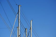 Boats masts Stock Images