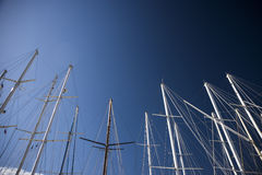 Boats masts Royalty Free Stock Images