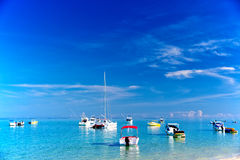 Boats in Mauritius royalty free stock photography