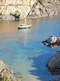 Boats on mediterranean bay. Spain Stock Photo