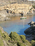 Boats on mediterranean bay. Spain Royalty Free Stock Photography