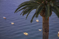 Boats in the Mediterranean Sea Royalty Free Stock Photography