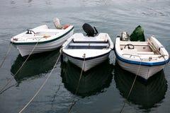 Boats at the Mediterranean sea port Royalty Free Stock Photo