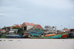 Boats in Mekong Delta Stock Images