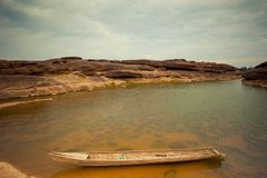 Boats in Mekong river Stock Photography