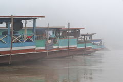 Boats on the Mekong River Stock Image