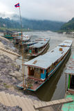 Boats on the Mekong river Stock Photo