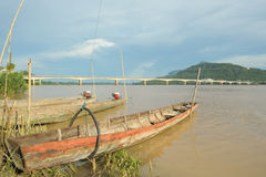 Boats in Mekong river at Paksa ,Loas. Stock Photography