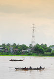 Boats on Mekong river, Vietnam. Stock Photos