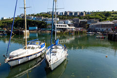 Boats in Mevagissey harbour Cornwall England Royalty Free Stock Photos