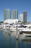 Boats at Miami Bayside Marina Stock Photography